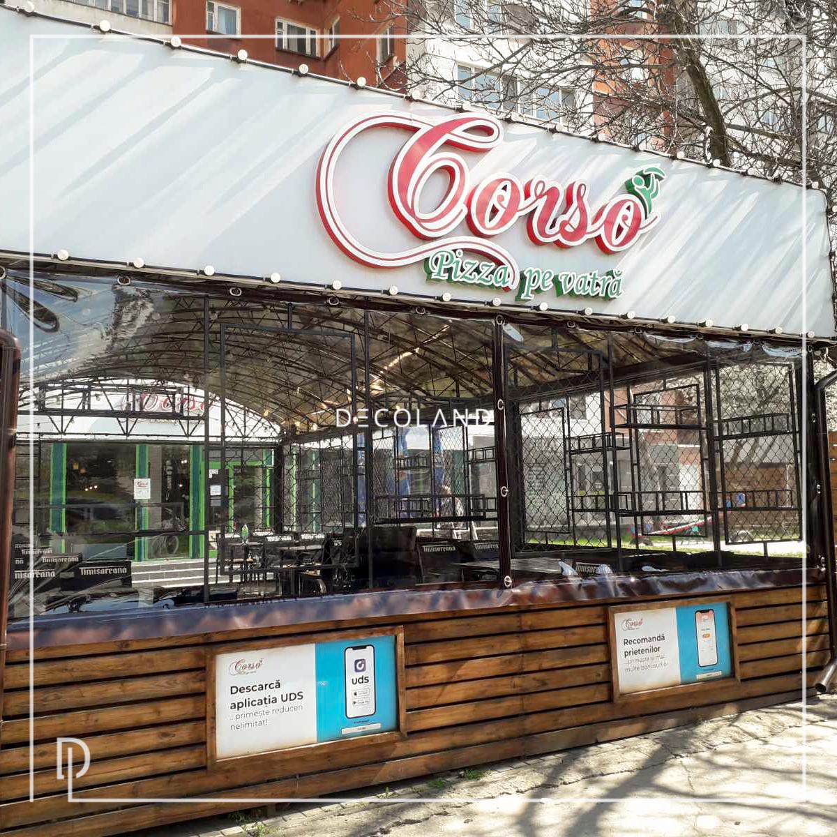 Pizza Corso cu Folie Transparentă